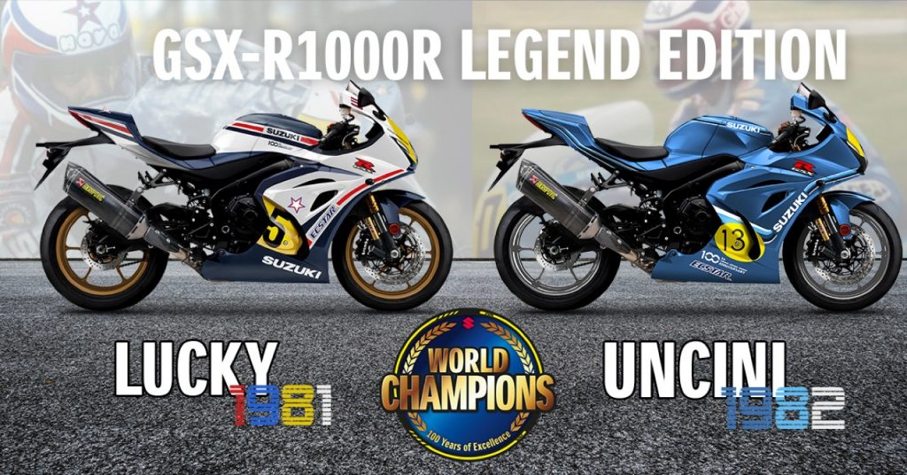 Suzuki GSX-R1000R Legend Edition: esemplari celebrativi ai campioni Lucchinelli e Uncini [FOTO]