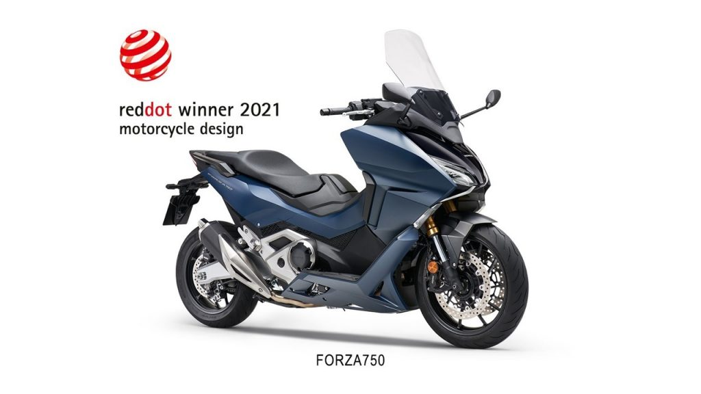 "Honda Forza 750: premio Red Dot 2021 nella categoria ""Design di Prodotto"""