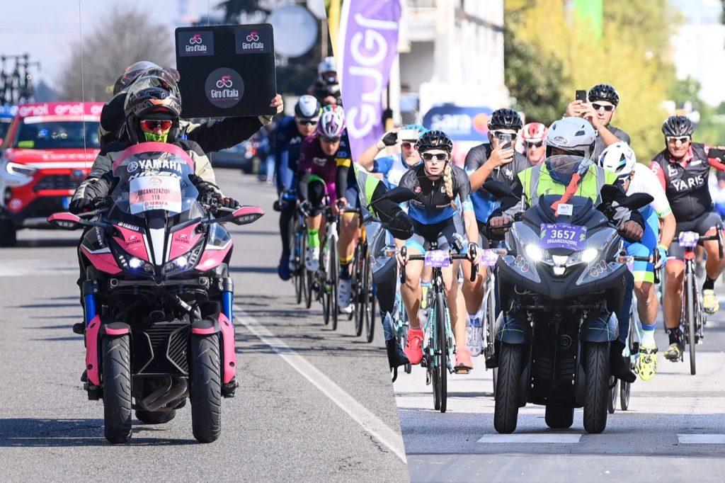 Yamaha Niken e Tricity 300: moto e scooter ufficiali per il Giro d'Italia e il Giro E 2021 [FOTO]