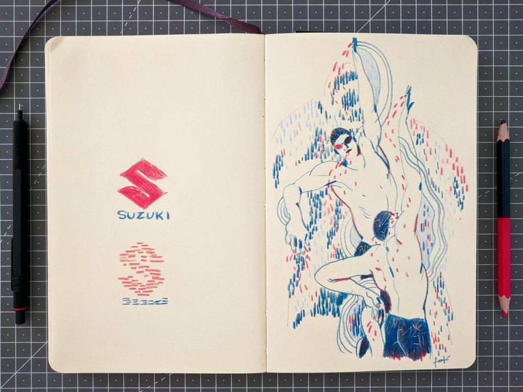 Suzuki Burgman 400: svelata una nuova opera per il progetto ARThletes [FOTO]