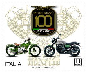 Moto Guzzi: un francobollo celebrativo dei 100 anni del marchio